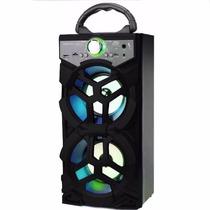 Caixa Som 12w Bluetooth Portátil Rádio Fm Usb Recarregável