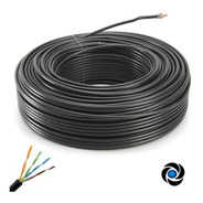 Cable Rollo 50mts 50m Utp Exterior Cat 5e Red Tira Led Cctv