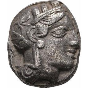 Moeda Grecia Attica Atenas - Tetradracma Prata Coruja 449 Ac