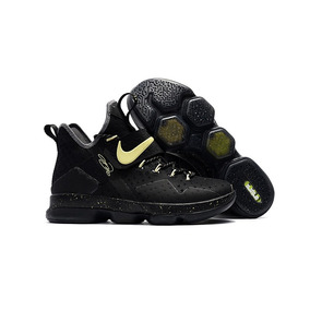 Tenis Nike Lebron 14 Preto Volt Glow Original