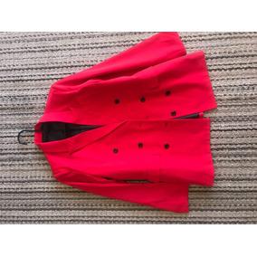 Saco Color Rojo Talla M