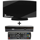 Kit Antena Castelo 1038 + Conversor Digital Hdtv Vii7