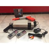 Nintendo Nes Consola 2 Controles Mario 1 Pistola Garantia