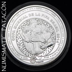 Moneda Argentina Plata Mundial Brasil 2014 Proof Certificado