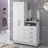 Guarda-roupa/cômoda Prático New Notável Móveis Branco