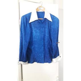 Camisa De Vestir Mujer Confeccionada X Costurera T Mediun