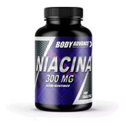 Niacina 300mg, Vitamina B3,  60 Comprimidos. Body Advance