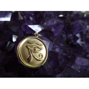 Pingente Medalhão Olho De Hórus Ouro 18k!