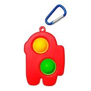 Pop It Among Us Simple Dimple Fidget Toy Llavero Importados