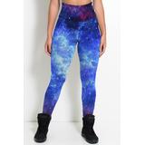 Calça Legging Elástica Tumblr Galaxy Universo