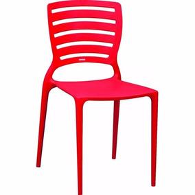 Cadeira Sofia Com Encosto Vazado Na Cor Vermelho Tramontina