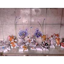 Tom E Jerry 10 Peças De Mesa De 15cm A 20cm