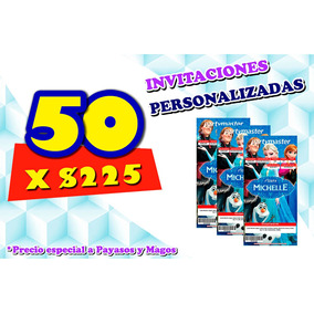 50 Invitaciones Personalizadas Tipo Ticketmaster