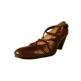 Clasico Tacon Cordon Trenzado Cuero Mujer Shoestore