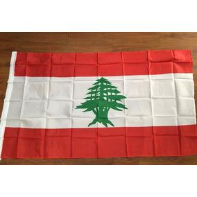 Bandeira Países Líbano Poliéster 0,90 X 1,50cm