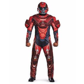 Disfraz Spartan Rojo Traje Halo Adulto Hombre