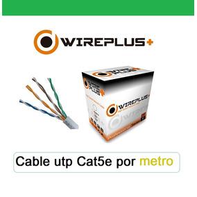 Cable Utp Cat5e Por Metro Rj45 Internet Y Cámaras Cctv.