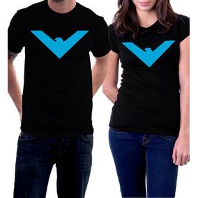 Camiseta Asa Noturna Logo Quadrinhos Comics Dick Grayson