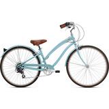 Bicicleta Feminina Nirve Starliner 7v Aro 700 Azul - Tam: 16