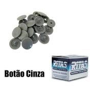 Botao De Pressão Plastico Ritas,com 200 Botões . Nº 12 Cinza