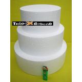 Maqueta Torta Falsa Telgopor 20x10 + 25x10 + 30x10 = 3 Bases