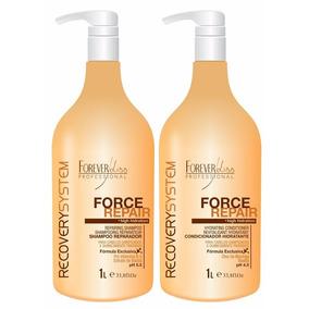 Kit Shampoo E Condicionador Force Repair Forever Liss 1l