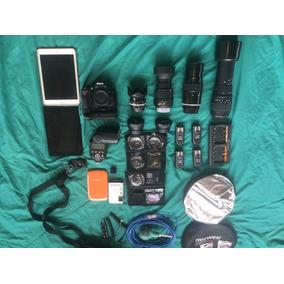 Camara Nikon D5200 Con Muchos Accesorios