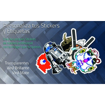 Calcomanias Stickers Personalizados Paquete De 12