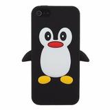 Capa Pinguim Iphone 4 4s Em Silicone - Promoção