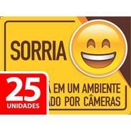 Adesivo Sorria Você Esta Sendo Filmado 20x15cm - 25 Unidades