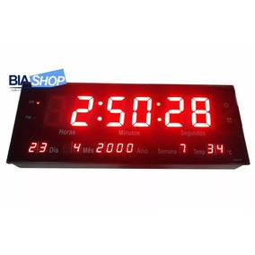 Relógio De Parede Academia Escritório Loja 33x11x4cm