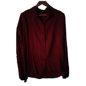 Camisa Bordo Manga Larga , Larga Atras - T 3 - Xl - Congreso