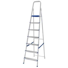 Escada 7 Degraus Em Alumínio 5105, Capacidade 100 Kg - Mor