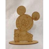 Kit 10 Mikey Baby Mdf 19cm Com Base Decoração Festa Infantil