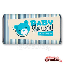 Etiquetas Para Chocolate Baby Shower Osito 2- Pdf Imprimible