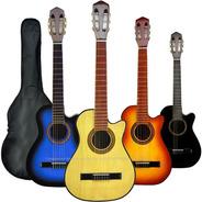 Guitarra Criolla Con Corte Mediana 3/4 Niño O Viajero Funda