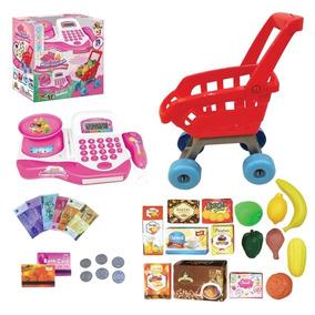 Caixa Registradora Mini Mercado Com Carrinho Acessórios 9142