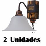 Aplique De Pared Madera Y Cuero - Combo 2 Unid.- Patagonia
