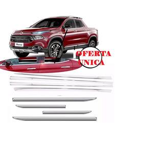 Kit De Colisas De Ventanillas Molduras Cromadas Fiat Toro