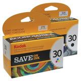 Combo Cartucho Kodak 30 Negro Y Color Original C110 310 2150