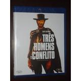 Blu Ray Três Homens Em Conflito Clint Eastwood Lacrado !!