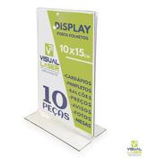 Kit 10 Displays 10x15 A6 T Invertido Porta Folder Folheto