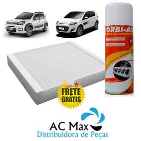 Filtro Ar Condicionado Palio E Uno Novo + Higienizador Spray