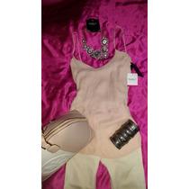 Preciosa Blusa Studio F Rosa Pastel Incluye Collar