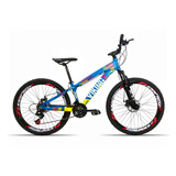 Bicicleta Aro 26 Vikingx X25 21 V Index Freio H. Vmax Azul