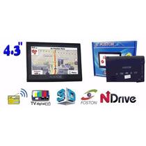 Gps Automotivo Foston Fs-3d463dt 4.3 Avisa Radar Tv Digital
