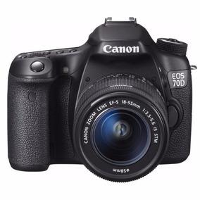 Câmera Canon Dslr Eos 70d Com Lente 18-55mm Stm 20.2mp