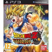 Dragon Ball Z Ultimate Tenkaichi Mídia Física Ps3 Região 1