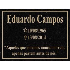 Placa Lápide De Granito Para Túmulos Cemitério Tam 20x25cm