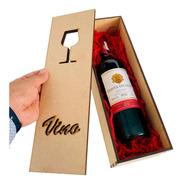 Porta Botellas Vinos Caja Madera Mdf Regalo Recuerdos Fiesta